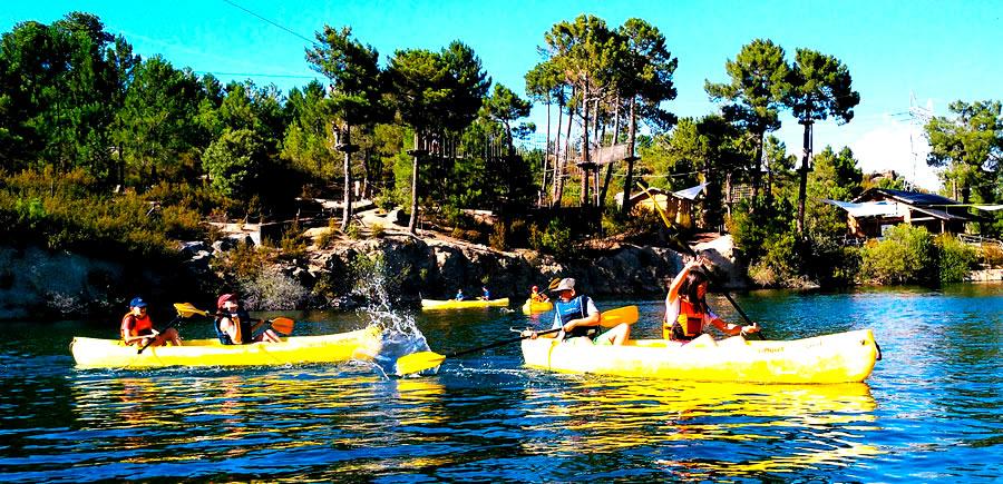 actividades de multiaventura en la Sierra de Madrid